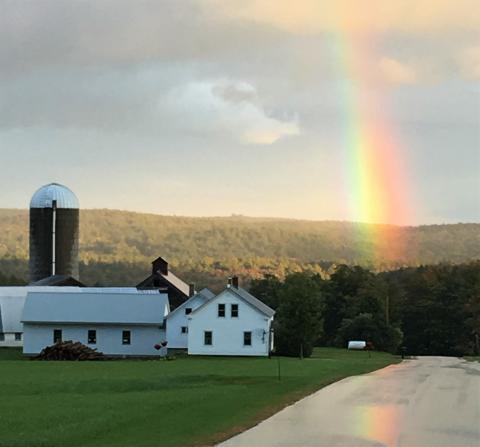 Sprague Farm rainbow 2019